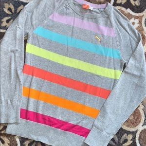 Puma Colorful Striped Sweater